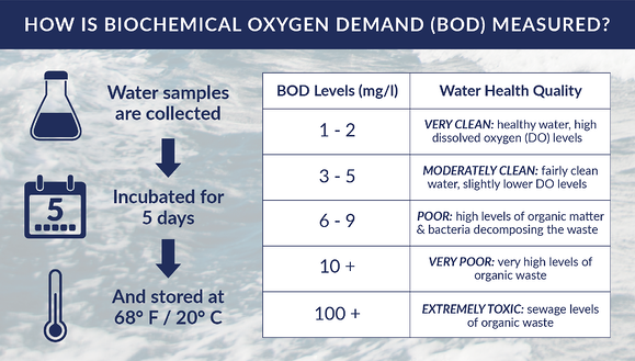 Ice Slicer graphic showing how biological oxygen demand is measured