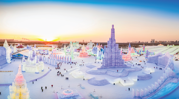 Harbin Snow and Ice Festival in China