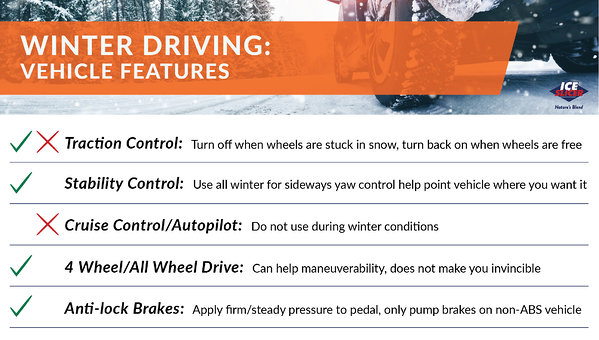 Vehicle features to use during the winter