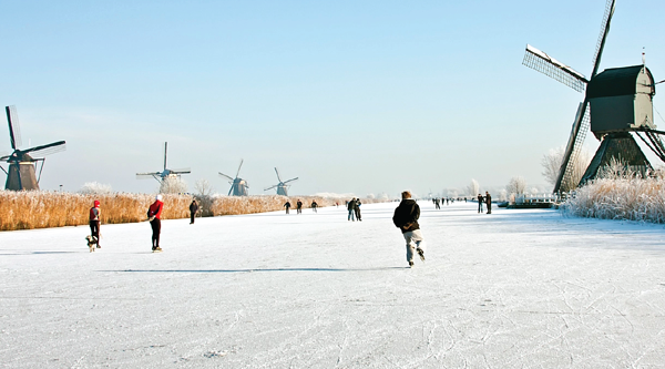 Canal Skating in The Netherlands, Photo courtesy of Netherlands Bureau for Tourism and Congresses