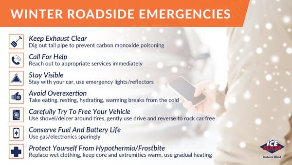 Winter roadside emergency tips for new drivers
