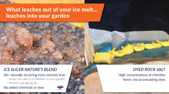 Ice slicer is safe for your garden