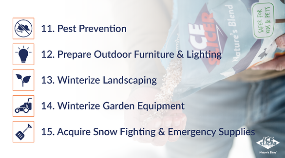 Top 15 things to prepare your home for winter