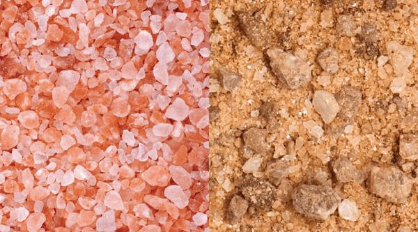 Himalayan and Utahn salt