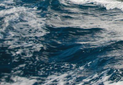 Churning water surface