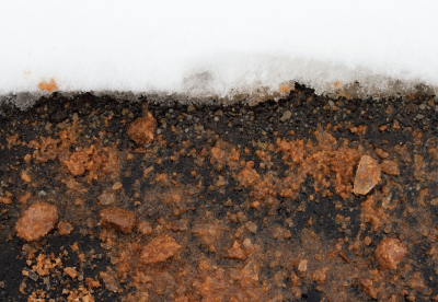 Ice Slicer melting snow on a road surface