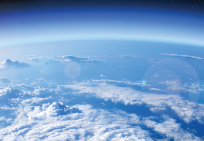 Image of the Earth's atmosphere from orbit