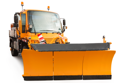 Clean snow plow